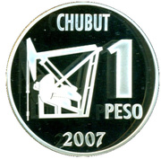 1 Peso (Centenary of the Discovery of Oil in Argentina) -  reverse