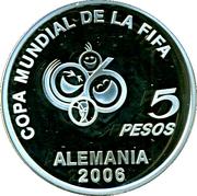 5 Pesos (World Cup Germany 2006) -  reverse