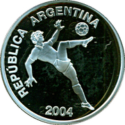 5 Pesos (World Cup Germany 2006) – obverse
