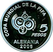 5 Pesos (World Cup Germany 2006) – reverse