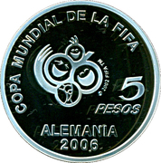 5 Pesos (World Cup Germany 2006) -  reverse