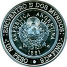 25 Pesos (Ibero-American Series - Patacón) – obverse