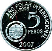 5 Pesos (International Polar Year) -  reverse