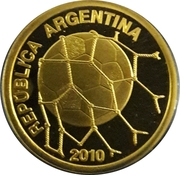 10 Pesos (2010 FIFA World Cup South Africa) -  obverse