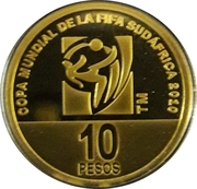 10 Pesos (2010 FIFA World Cup South Africa) -  reverse