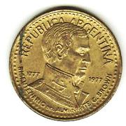 5 Pesos (Admiral G. Brown) – obverse