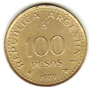 100 Pesos (Patagonia Conquest) -  reverse