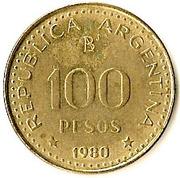 100 Pesos (magnetic) -  reverse