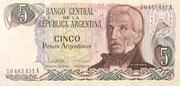 5 Pesos argentinos -  obverse