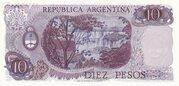 10 Pesos (With Decreto-Ley) – reverse