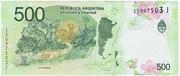 500 Pesos – reverse