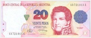20 Pesos (Convertibles de Curso Legal 1st issue) -  obverse