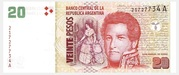 20 Pesos (Convertibles de Curso Legal 2nd issue) – obverse