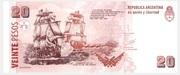 20 Pesos (Convertibles de Curso Legal 2nd issue) – reverse