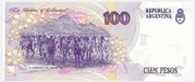 100 Pesos (Convertibles de Curso Legal 1st issue) – reverse