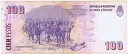 100 Pesos (Convertibles de Curso Legal 2nd issue) – reverse