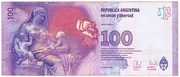 100 Pesos (60th Anniversary of Eva Perón's Death) – reverse