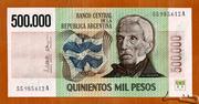 500,000 Pesos – obverse