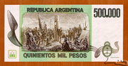 500,000 Pesos – reverse