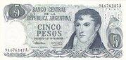 5 Pesos Ley -  obverse