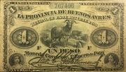 1 Peso (La Provincia de Buenos Ayres) -  obverse