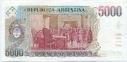 5,000 Pesos argentinos -  reverse