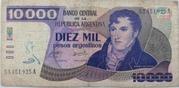 10,000 Pesos Argentinos – obverse