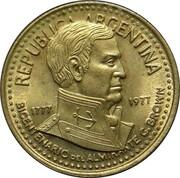 5 Pesos (Admiral G. Brown) -  obverse