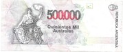 500,000 Australes – reverse