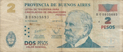 """2 Pesos (Treasure bond - """"Patacón"""")) -  obverse"""