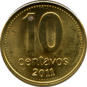 10 Centavos (smooth edge; magnetic) -  reverse