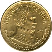 10 Pesos (Admiral G. Brown) -  obverse