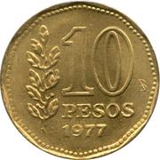 10 Pesos (Admiral G. Brown) -  reverse