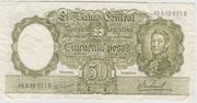 50 Pesos ND (1968- 1969) – obverse