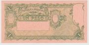 1 Peso -  reverse
