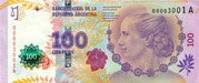 100 Pesos (60th Anniversary of Eva Perón's Death) -  obverse