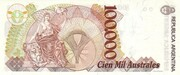 100,000 Australes – reverse