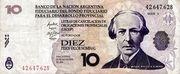 10 Pesos Valor Nominal (LECOP) – obverse