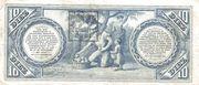 10 Pesos (Banco Nacional) – reverse