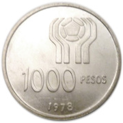 1000 Pesos (World Football Championship) -  reverse