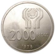 2000 Pesos (World Football Championship) -  reverse