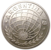 3000 Pesos (World Football Championship) – obverse