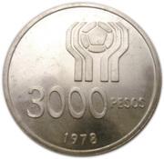 3000 Pesos (World Football Championship) -  reverse