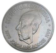 2 Pesos (Jorge Luis Borges) -  obverse