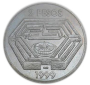 2 Pesos (Jorge Luis Borges) -  reverse