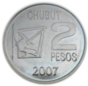 2 Pesos (Centenary of the Discovery of Oil in Argentina) -  reverse