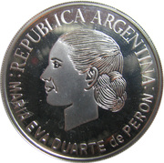 1 Peso (Eva Duarte de Peron) -  obverse