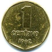 1 Centavo (round type) – reverse