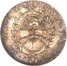 ½ Sol (Provincias del Rio de la Plata) – reverse