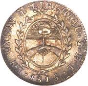 ½ Sol (Provincias del Rio de la Plata) -  reverse